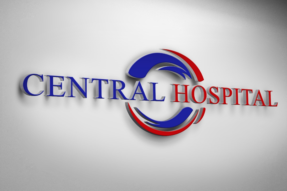 Изготвяне на лого бранд: Central Hospital ниша: здравеопазване, болници, Булбранд Медия ООД