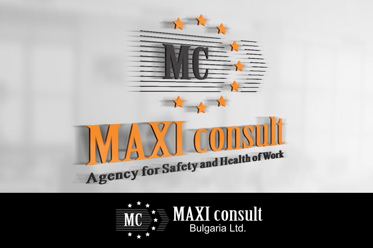 Изготвяне на лого бранд: Maxi Consult Bulgaria бранш: служба по трудова медицина, Булбранд Медия ООД