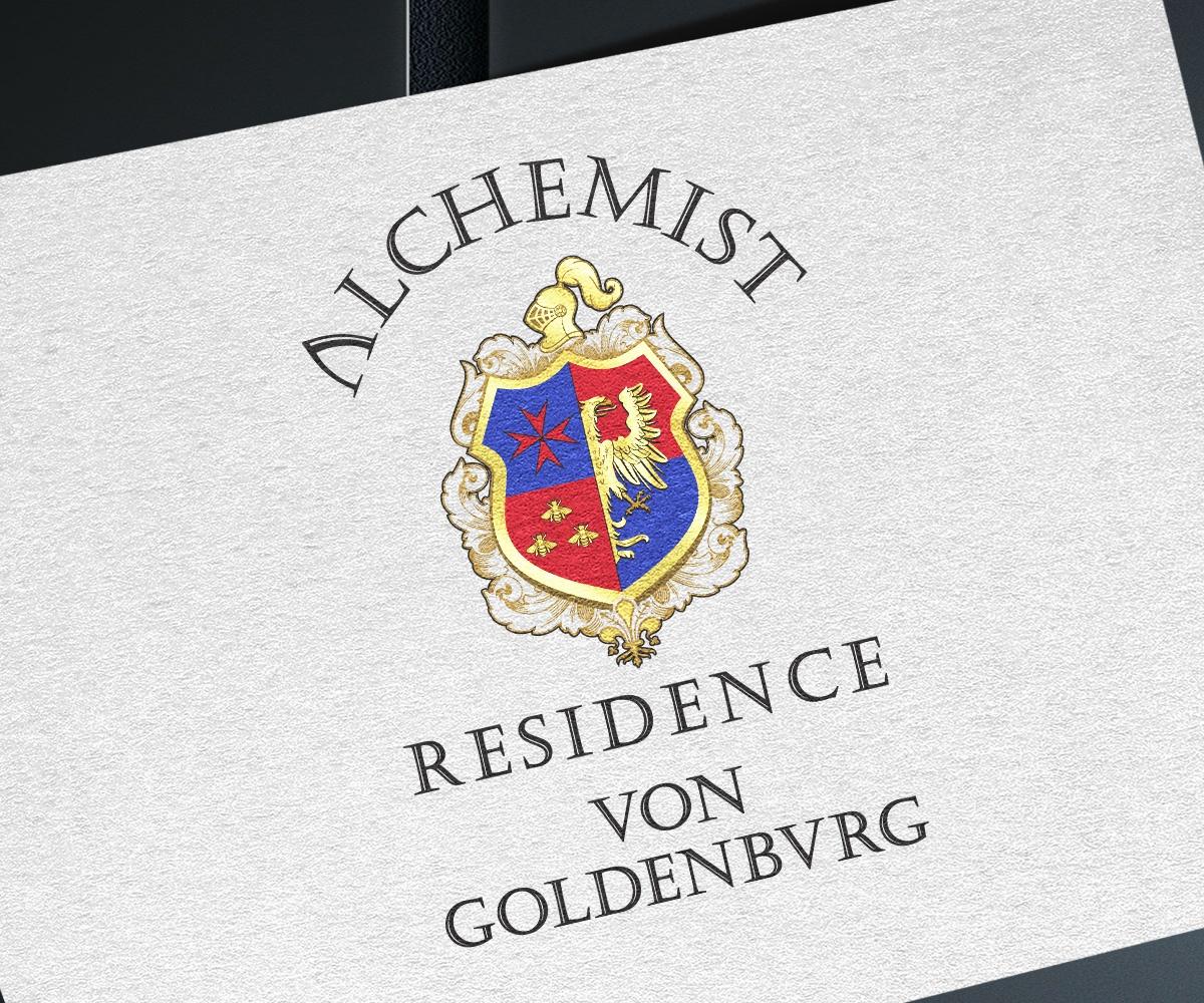 Изготвяне на лого бранд: Alchemist Residence von Goldenbvrg бранш: хотелиерство и ресторантьорство, Булбранд Медия ООД