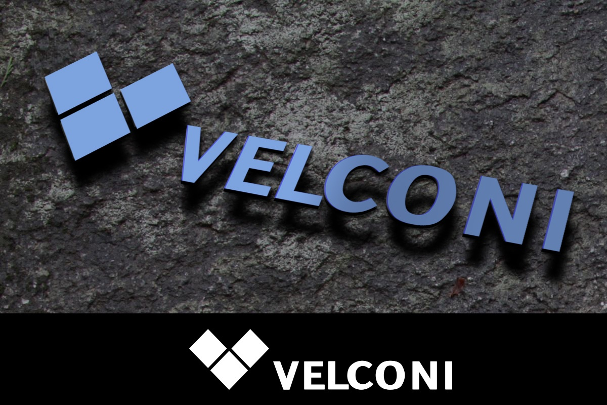 Изготвяне на лого бранд: Velconi бранш: производство на материали за строителство, вътрешен и външен декор, Булбранд Медия ООД